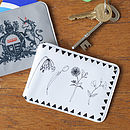 Flower Oyster Card Holder