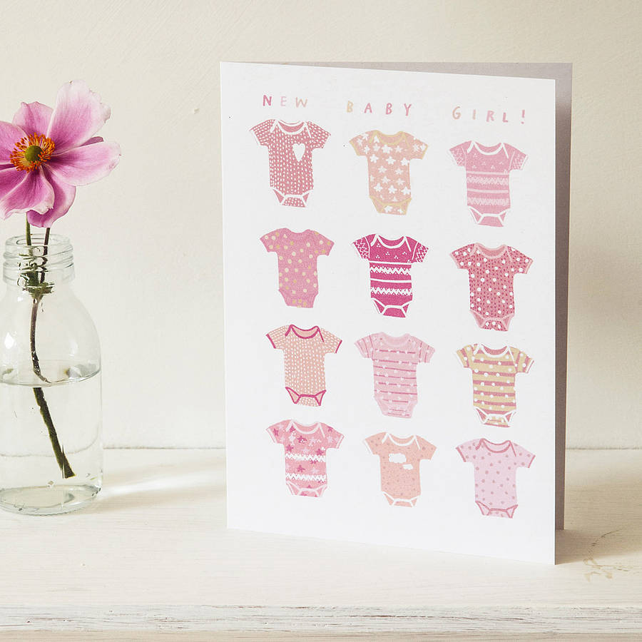 u0026 39 new baby girl u0026 39  greeting card by hanna melin