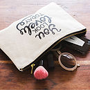 'You Look Lovely Today' Canvas Pouch
