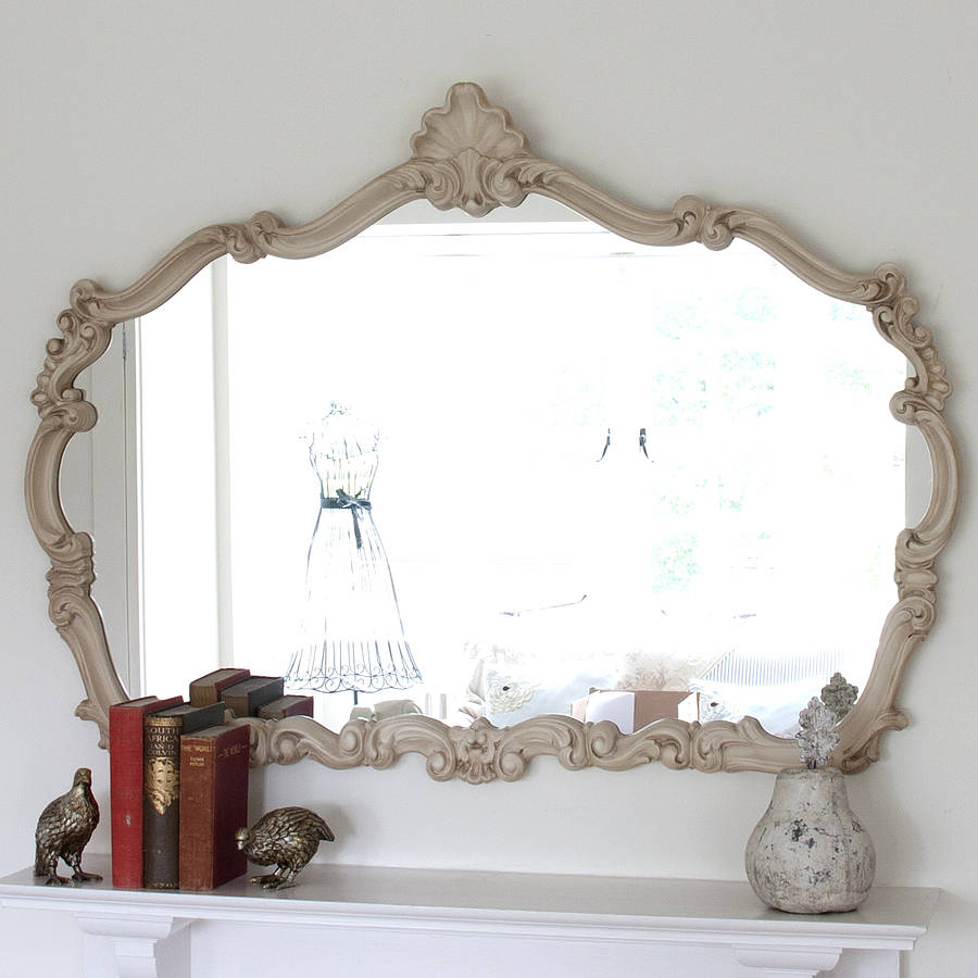 renaissance ivory overmantel mirror by decorative mirrors. Black Bedroom Furniture Sets. Home Design Ideas