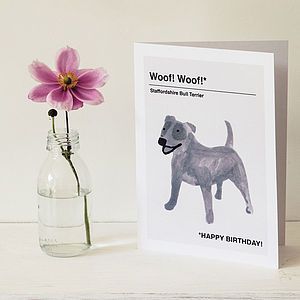 'Staffordshire Bull Terrier' Greeting Card