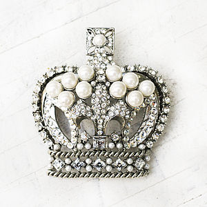 Vintage Crown Brooch - pins & brooches