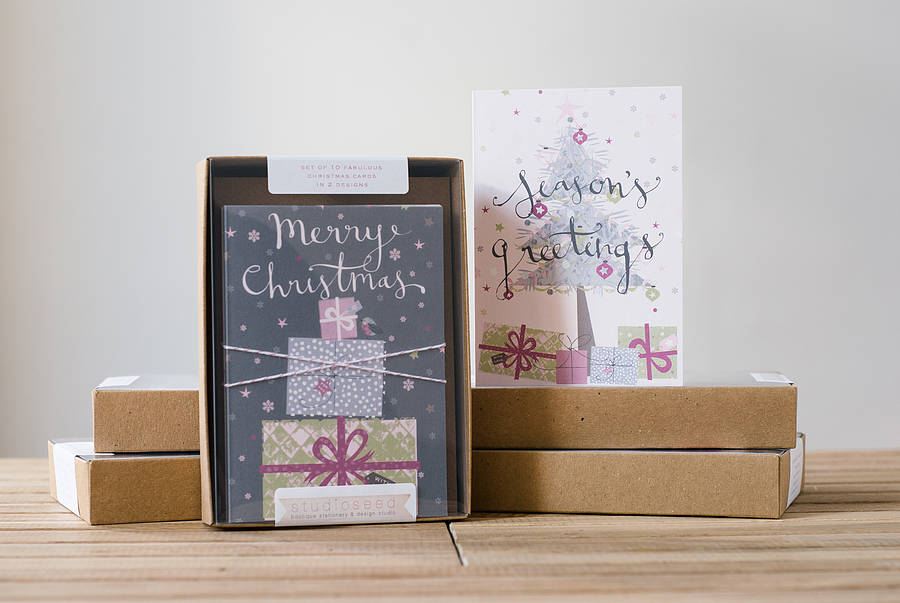 Boxed Christmas Cards – Merry Christmas And Happy New Year 2018
