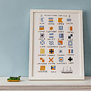 Nautical Code Flags Print
