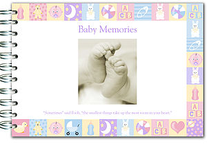 New Baby Book - keepsakes