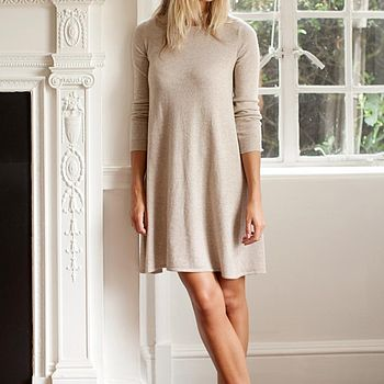 Cashmere Swing Dress - Natural