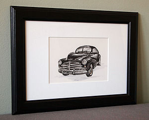 Personalised Hand Drawn Car Illustration - shop by price