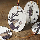 Wooden Christmas Deer Hanging Decorations