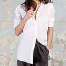 Amy White Cotton Shirt