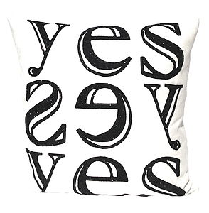 'Yes' Xl Cushion - cushions