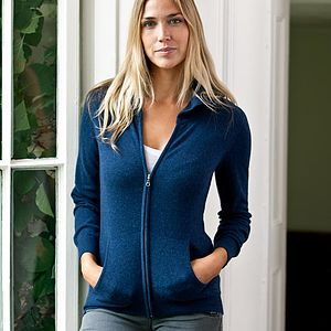 Cashmere Zip Hoody - jumpers & cardigans