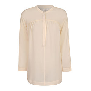Deep Cream Sheer Blouse - tops