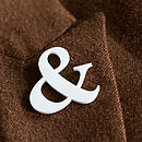 Ampersand Pin Brooch