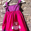 Girls Have A Hoot Pinafore Dress