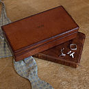 Corporate Gift Leather Cufflink Box