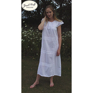 Helena Percale Cotton Nightdress - lingerie & nightwear