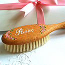 Rose hairbrush