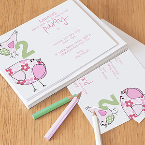 12 Personalised Party Invitations For Girls - children's parties