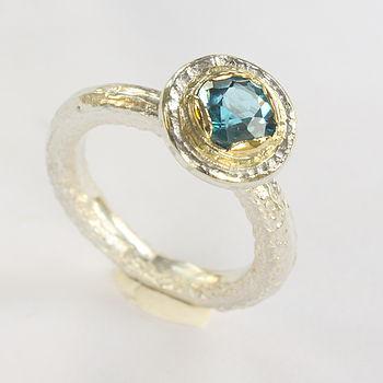 BlueTopaz And Silver Handmade Ring