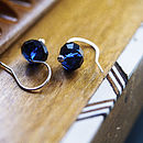 Dazzle Dark Indigo Earrings by Rachel Lucie