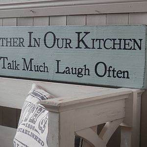 Personalised Large Wood Statement Sign