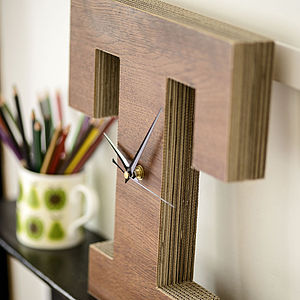 Letter Clock - gifts for him