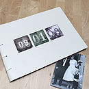 Personalised Date Leather Album
