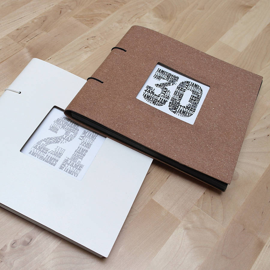 Personalised Birthday Leather Photo Album from Letterfest