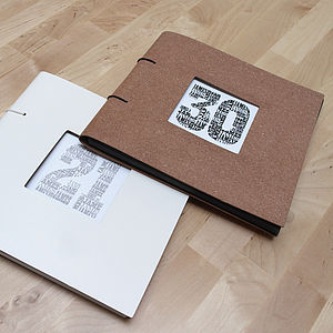Personalised Birthday Leather Photo Album - 30th birthday gifts
