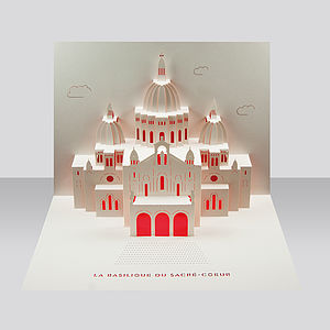 Sacre Coeur Paris Pop Up Card