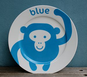 Monkey Fine Bone China Plate
