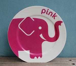 Elephant Fine Bone China Plate