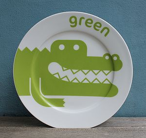 Crocodile Fine Bone China Plate