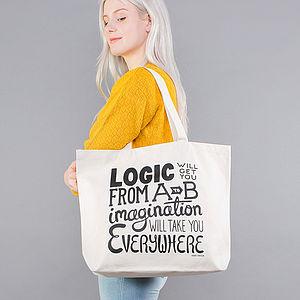 'Imagination' Big Canvas Bag - bags & purses