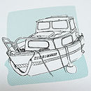 Personalised Boat Illustration