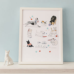 'Happy Dogs Playing' Print