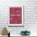 Christmas Family Values print