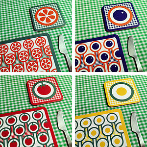 English Breakfast Placemat Coaster Set