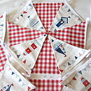 Nautical Bunting - Red Gingham