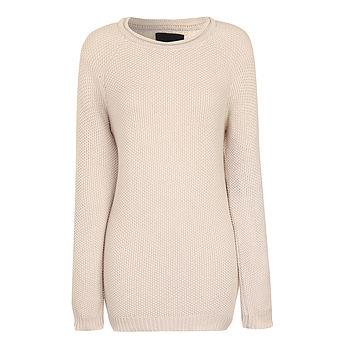 Bom Cream Cotton Knit Sweater