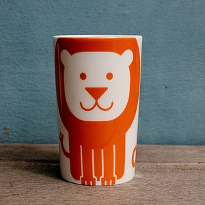 Lion Fine Bone China Beaker