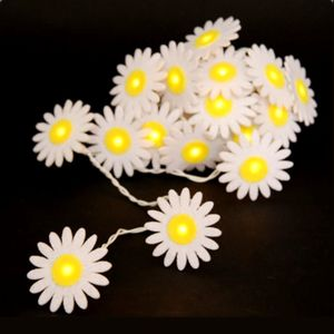 Yellow And White Daisy Chain Lights - lights & candles