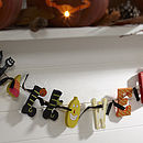 Wooden Halloween Garland