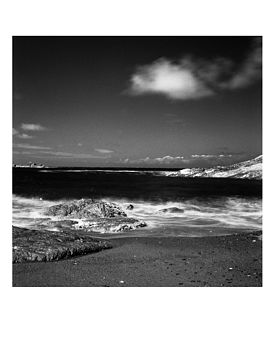 Clouds, Combe Martin, Black And White Print