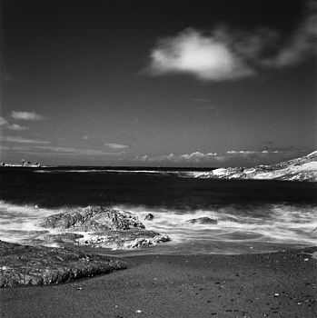 Clouds, Hele Bay, Black And White Signed Art Print