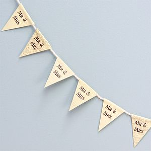 Tiny Mr And Mrs Paper Bunting - outdoor decorations