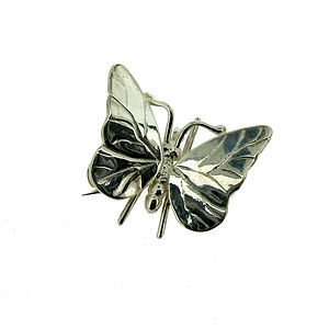 Small Silver Butterfly Brooch - children's accessories