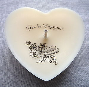 Personalised 'You're Engaged' Keepsake Candle - lighting