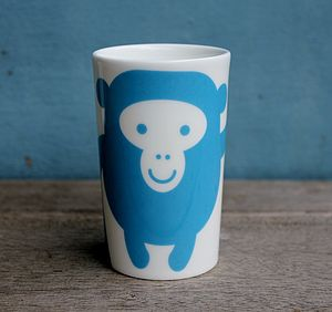 Monkey Fine Bone China Beaker
