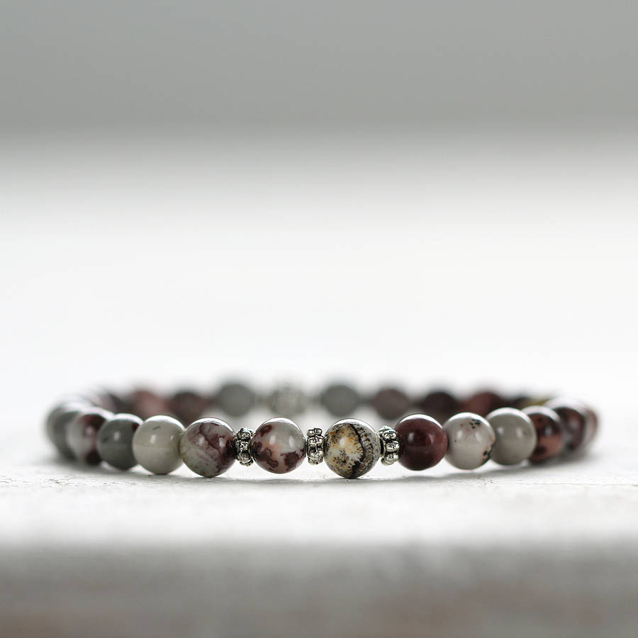 mix m products grey collectives jasper image bracelet